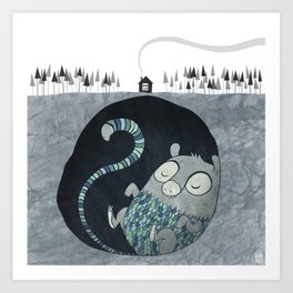 Let's bore for geothermal energy! Art Print