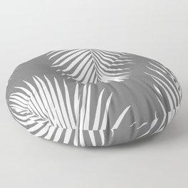 Dark Gray Tropical Pattern Floor Pillow