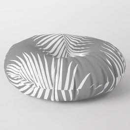 Dark Gray Tropical Pattern Floor Pillow