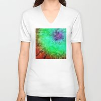 tie dye V-neck T-shirts featuring Vintage Abstract Tie Dye by Phil Perkins