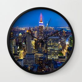 Manhattan - View from Top of the Rock - Rockefeller Center - New York Wall Clock