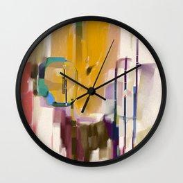 Traveler Among the Spires Wall Clock