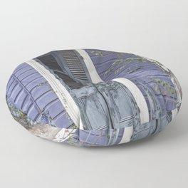 New Orleans Blue Marigny Door Floor Pillow