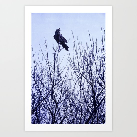 Autumn Crow Art Print