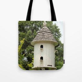 Fancy Bird House Tote Bag