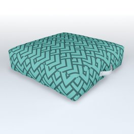 Aquamarine Chevron Pattern - Zigzag Outdoor Floor Cushion