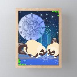 The Boy Cats Study Cosmology Framed Mini Art Print