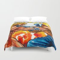 muscle Duvet Covers featuring Muscle Bomber by VGPrints