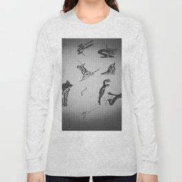Pleine Lune sur une ambiance tatoo Long Sleeve T-shirt