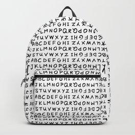 ABC Black on White Backpack