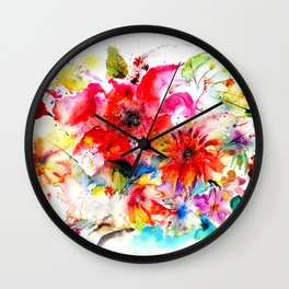Watercolor garden II Wall Clock