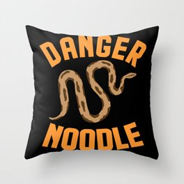 Danger Snake Noodle National pet Day Throw Pillow