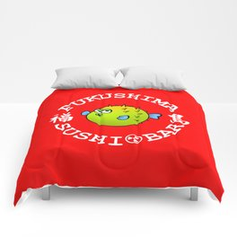 Sushi Bar (Red/White) Comforters
