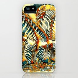 AnimalArt_Zebra_20170602_by_JAMColorsSpecial iPhone Case