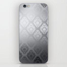 """Neutral gray Damask Pattern"" iPhone Skin"