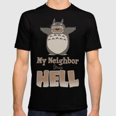 My Neighbor from Hell Mens Fitted Tee MEDIUM Black