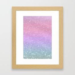 Unicorn Princess Glitter #1 (Photography) #pastel #decor #art #society6 Framed Art Print