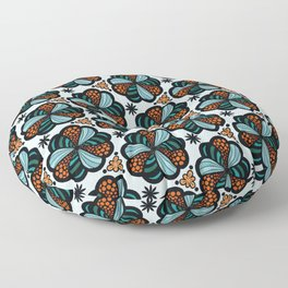 Cookies and Candy Turquoise & Orange Floor Pillow