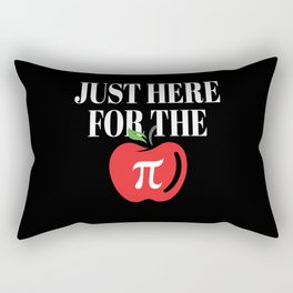 Just Here For The Pi Funny Pi Day Rectangular Pillow