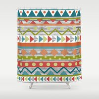 aztec Shower Curtains featuring Aztec. by Tayler Willcox