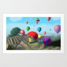 surprise view. Art Print