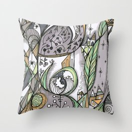 The Story Is Different Throw Pillow