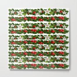 Christmas holly and garlands Metal Print