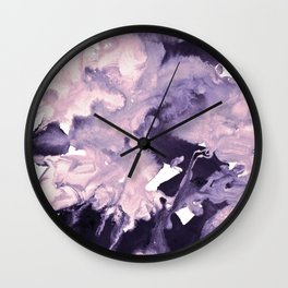 inkblot marble 9 Wall Clock