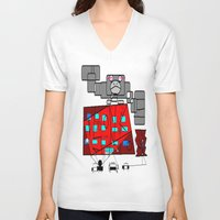 fibonacci V-neck T-shirts featuring FIBONACCI  by PlanetLOUDville