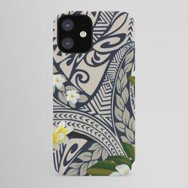 Traditional Hawaiian Tapa and Plumeria iPhone Case