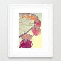 ferris wheel Framed Art Prints featuring ferris wheel by shannonblue