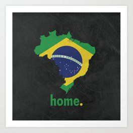 Brazil Proud Art Print