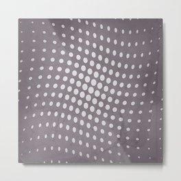 Halftone Flowing Circles in Aubergine Metal Print