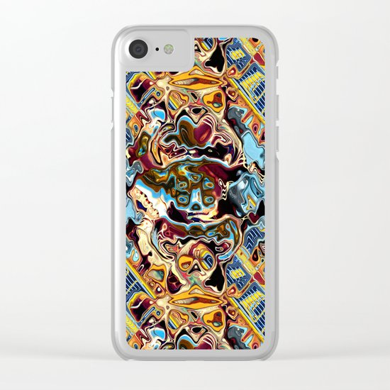 Chaotic Abstract Conglomeration Clear iPhone Case