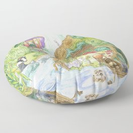 The Wind in the Willows Floor Pillow