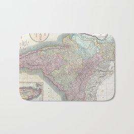 Vintage Map of India (1806) Bath Mat