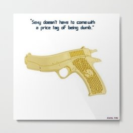 American Problems Pop-Art Gun Series #6 by Jéanpaul Ferro Metal Print