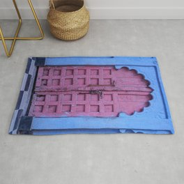 Pink Door In The Blue City, Jodhpur Rug