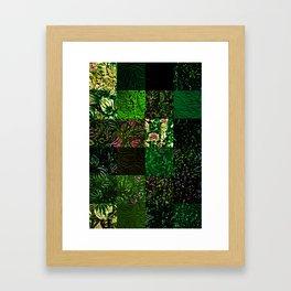 Foliage Patchwork #1 Framed Art Print