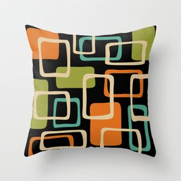 Mid Century Modern Abstract Squares Pattern 420 Throw Pillow