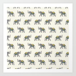 Walk like an Elephant Art Print