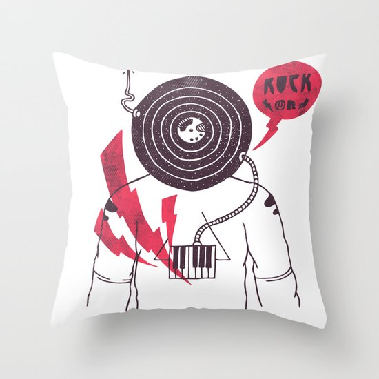The Vinyl Frontier Throw Pillow