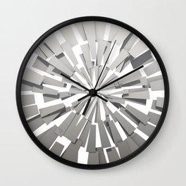 Grey Sunburst Wall Clock