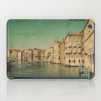 postcard iPad Cases featuring Venice postcard by Sylvia Cook Photography