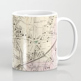 Vintage Map of Stamford CT (1867) Coffee Mug