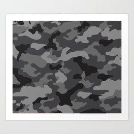 Grey Camo Art Print
