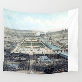Vue générale de Paris avant 1870 Wall Tapestry