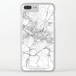Florence Map White Clear iPhone Case