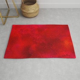 3D Red Galaxy Pattern Rug