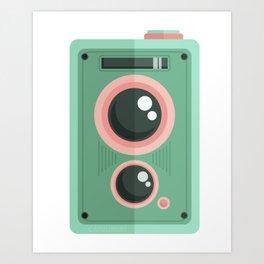 Vintage Camera: Teal Art Print